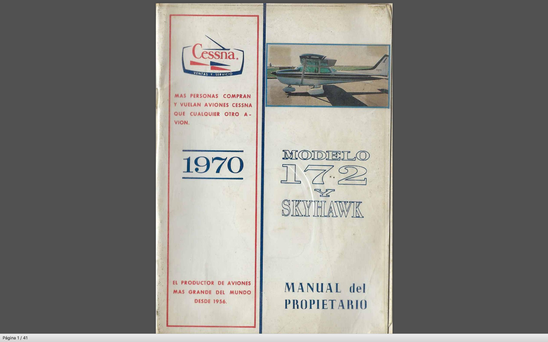 Manual del Operador Cessna Skyhawk C 172 POH version Español