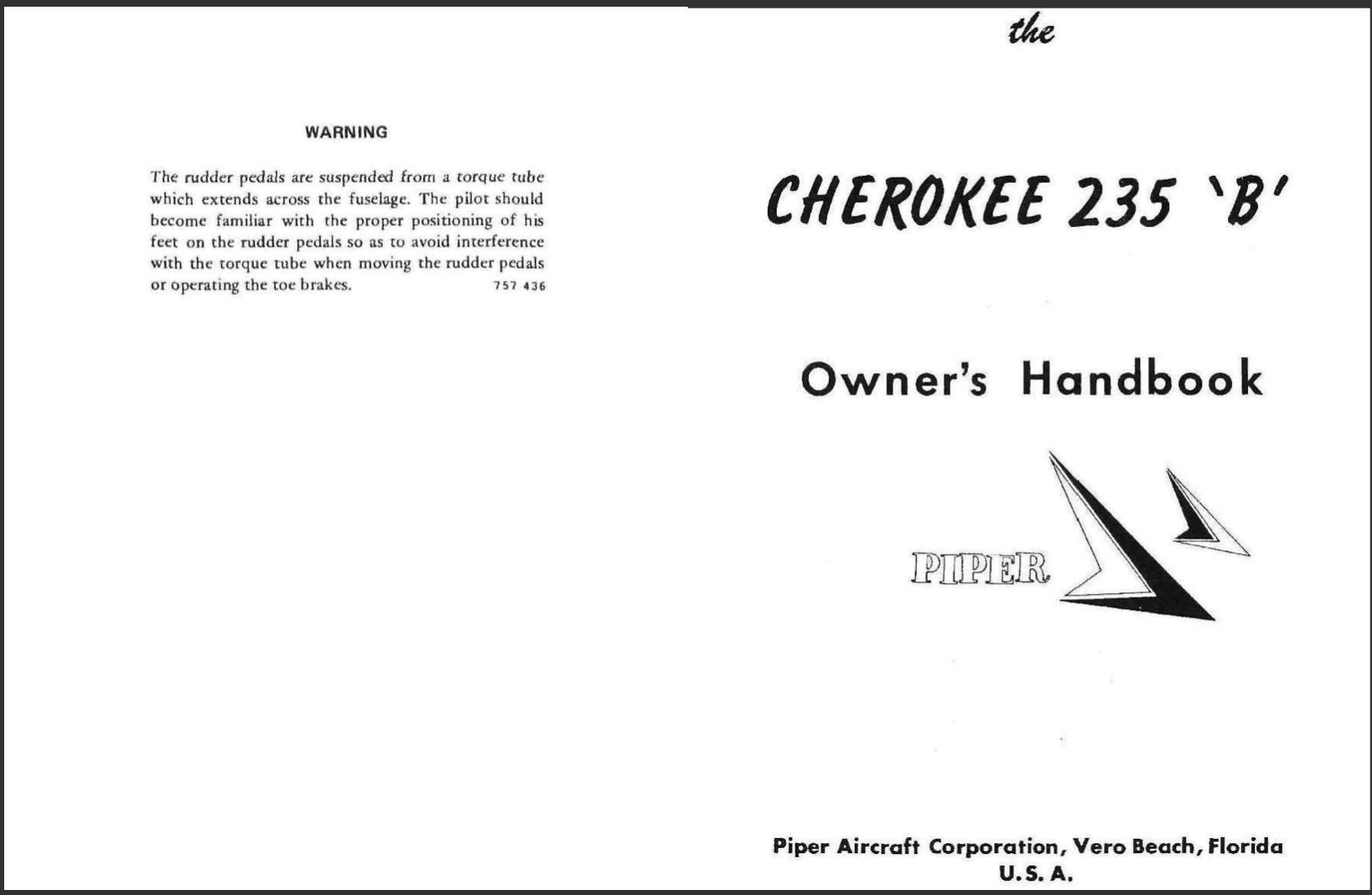 Manual del Operador POH Cherokee PA 28 235 1966 PDF